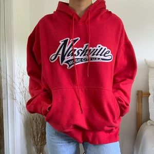 Tops - Nashville Tennessee Red Hoodie